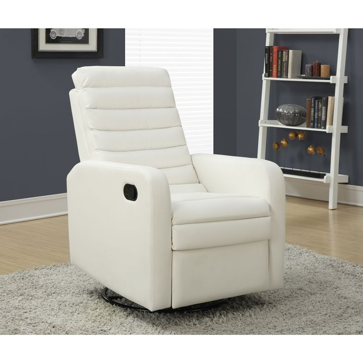 Find true comfort in the White Bonded Leather Swivel Glider Recliner. This versatile chair offers  sc 1 st  Pinterest & 17 best groovy den lounge chairs images on Pinterest | Lounge ... islam-shia.org