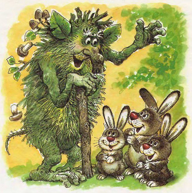 сказочные персонажи леса картинки просто помогает хозяйству