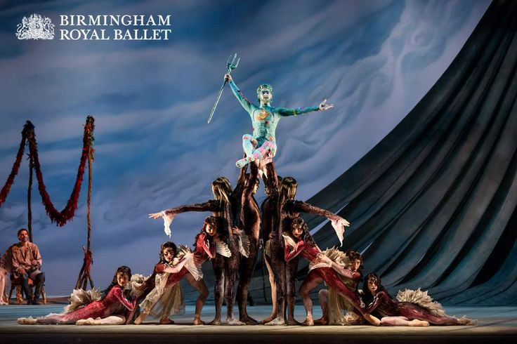 Lachlan Monaghan as Neptune, God of the sea, with Artists of Birmingham Royal Ballet as Sea Nymphs and Strange Fish