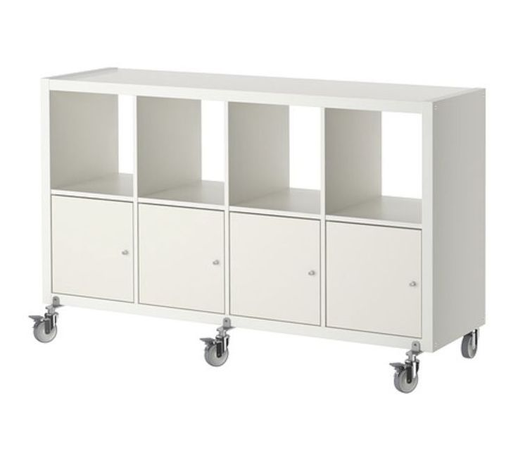 IKEA KALLAX 8 SHELF WITH WHEELS