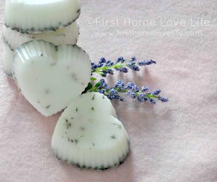 Homemade heart-shaped lavender/goat milk soap recipe #homemade #soap #giftidea #holidays #valentinesday #heart #lavender