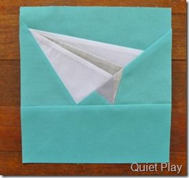 Paper pieced paper plane- quiet time