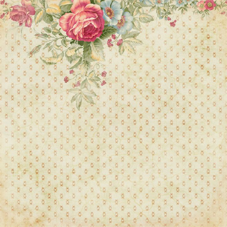 Ecru background with dots roses on top