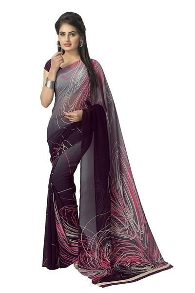 Latest Desinger Women's Faux Georgette Printed Saree
