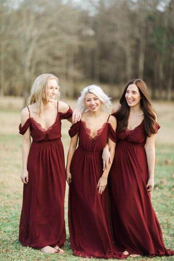 b70ac277bd53 Chiffon Party Dress, Party Dress 2018, Burgundy Party Dress  #ChiffonPartyDress #PartyDress2018 #BurgundyPartyDress Wedding Dresses 2018