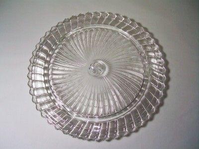 Clear Depression Glass Cake Plates | Vintage Cake Plate Depression Glass Cake Serving Dish Clear Spiral & 160 best Cake Plates images on Pinterest | Cake plates Vintage ...