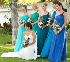pastel blue pink lilac aqua bridesmaid dresses - Google Search