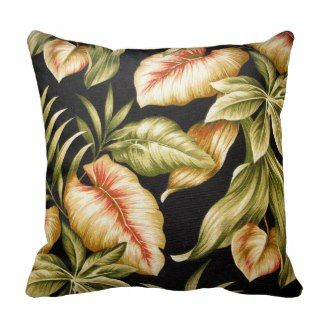 Tropical Leaves & Ferns - American Mojo Pillow | Tropical Throw Pillows | Pretty Throw Pillows| On sale now with code: BIZCARDSALEZ
