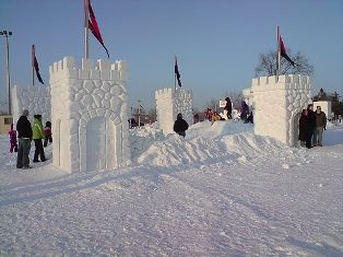 Saint Paul Winter Carnival Snow Carving