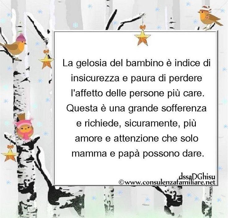 La gelosia del #bambino è paura di perdere l'amore di #mamma e papà…