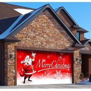 Holiday Garage Door Decor Santas Merry Christmas Holiday Garage Door Decor  Standard 2 Car Garage at Sears.com
