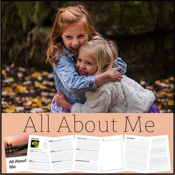 """Welcome Back to School! """"All About Me"""" is a resource that I created to be used with Intermediate students in September. I use this resource to help me get to know my students and also to teach them how to write in paragraphs. Students are asked to complete each section in paragraph format and then put them all together as an essay on the last two pages."""