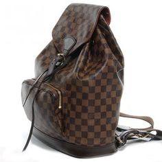 Mochila Backpack Louis Vuitton Damier (Couro legítimo)