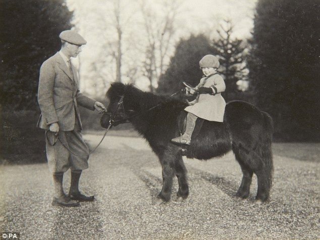 First love: The Queen's first pony was a tiny Shetland named Peggy who was given to her at the age of four