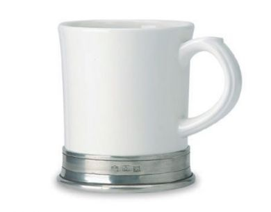Match Pewter Mugs: Coffe Time, Convivio White, Ceramics Mugs, Convivio Mugset, Pewter Convivio, Matching Convivio, Convivio Ceramics, Matching Pewter, Coffe Shops