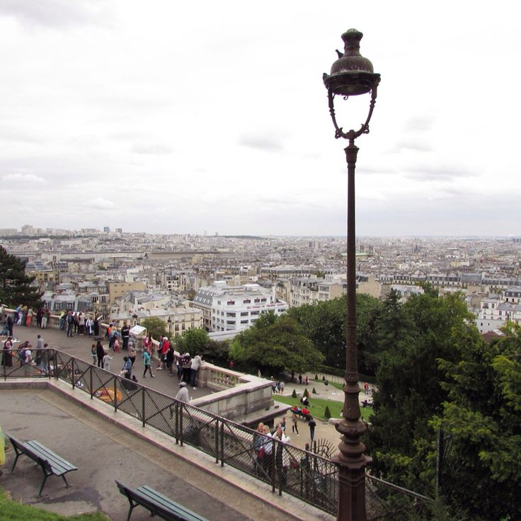 View from the top of Montmartre, Paris, France - July 2015