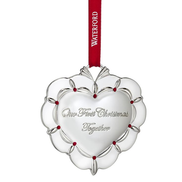 2016 Our First Christmas Together Waterford Tree Decoration Wedding Ornament