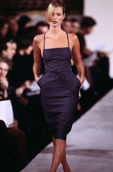 Kate Moss at Marc Jacobs FW 1996 | @andwhatelse