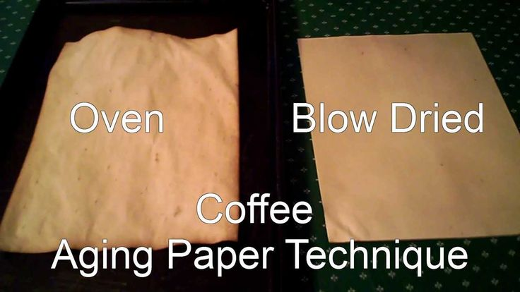 Two Techniques for Aging Paper with Coffee. Great for Journal Projects o...