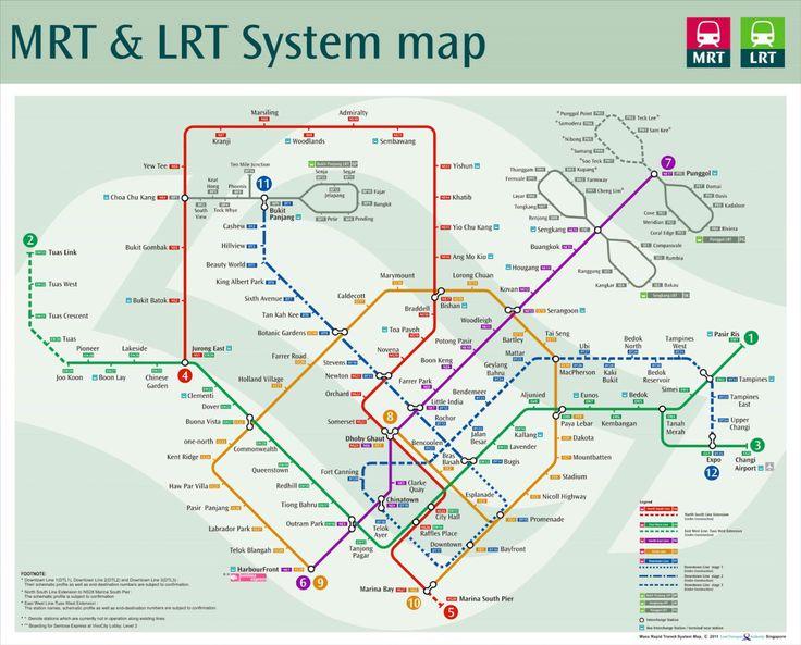 MRT map Singapore