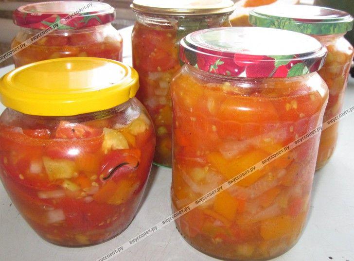 Предлагаю приготовить Ленивый салат из помидоров на зиму, который можно будет использовать в качестве закуски, в качестве заправки для супа, для тушения мяса и т.д.