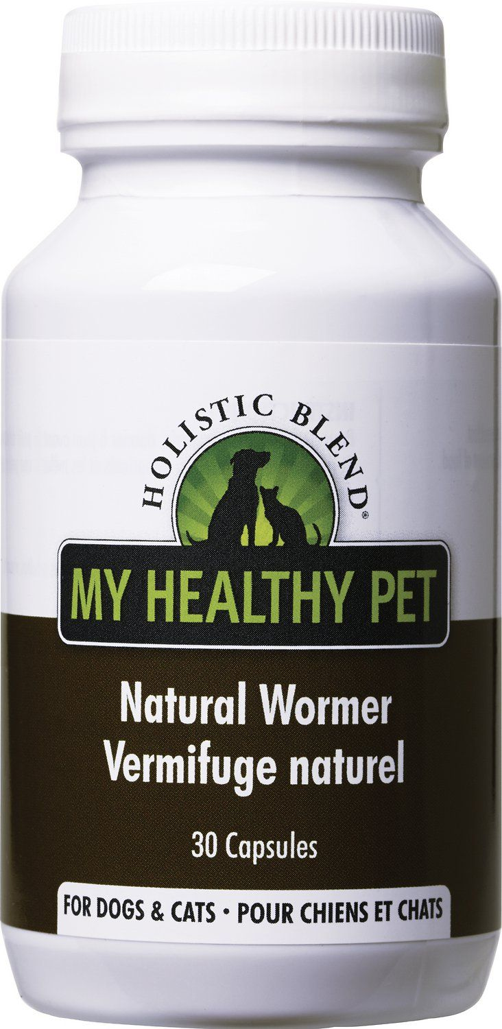 Holistic Blend Natural Wormer for Dogs & Cats provides an