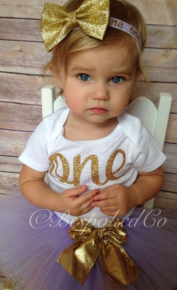 Light Purple and Gold 1st birthday Outfit /Lilac and by BespokedCo