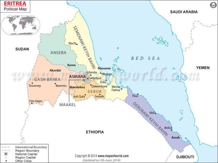 Mapa de #Eritrea