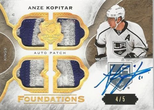 15-16 THE CUP Anze Kopitar FOUNDATIONS QUAD AUTO/PATCH