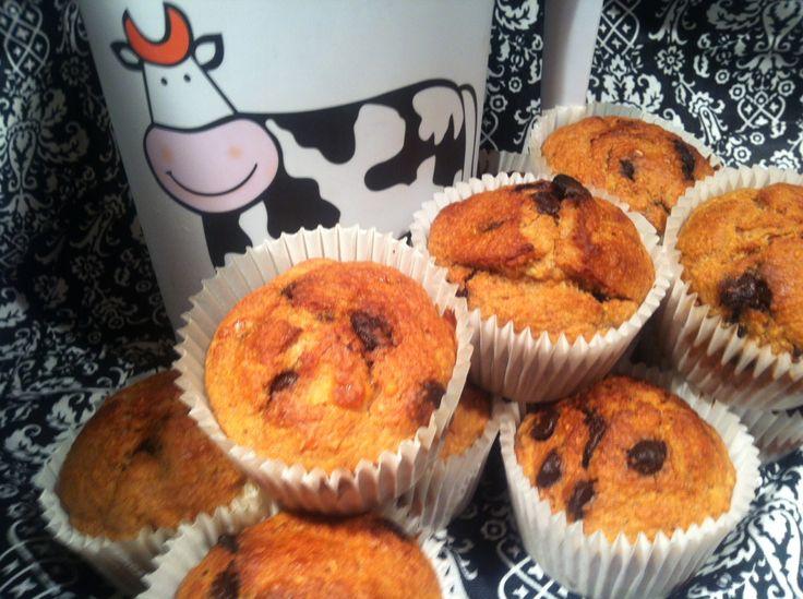 Muffins aux  bananes et chocolat faibles en gras