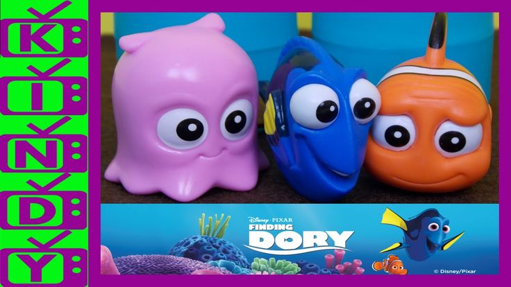 Finding Dory Mashems. Finding Dory Blind Bags. Dory, Pearl, Marlin and m...