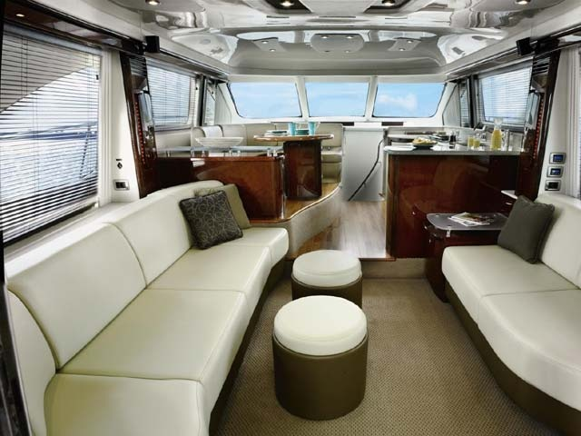 Revamp a tired cabin with modern upholstery - you cant go wrong with latte colours.  Raeline Upholstery can achieve this look for your boat - contact us at www.raelineupholstery.com.au
