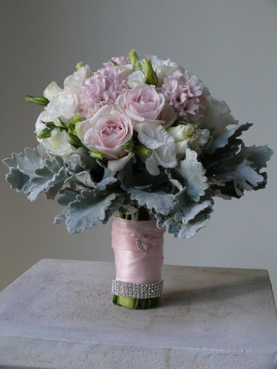 Pink and Grey bouquet from We Do Wedding Flowers