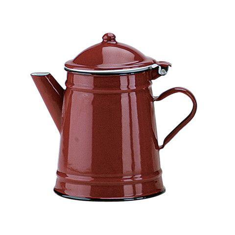 cafetera conica de peltre roja (500 ml) IBILI – dcocina