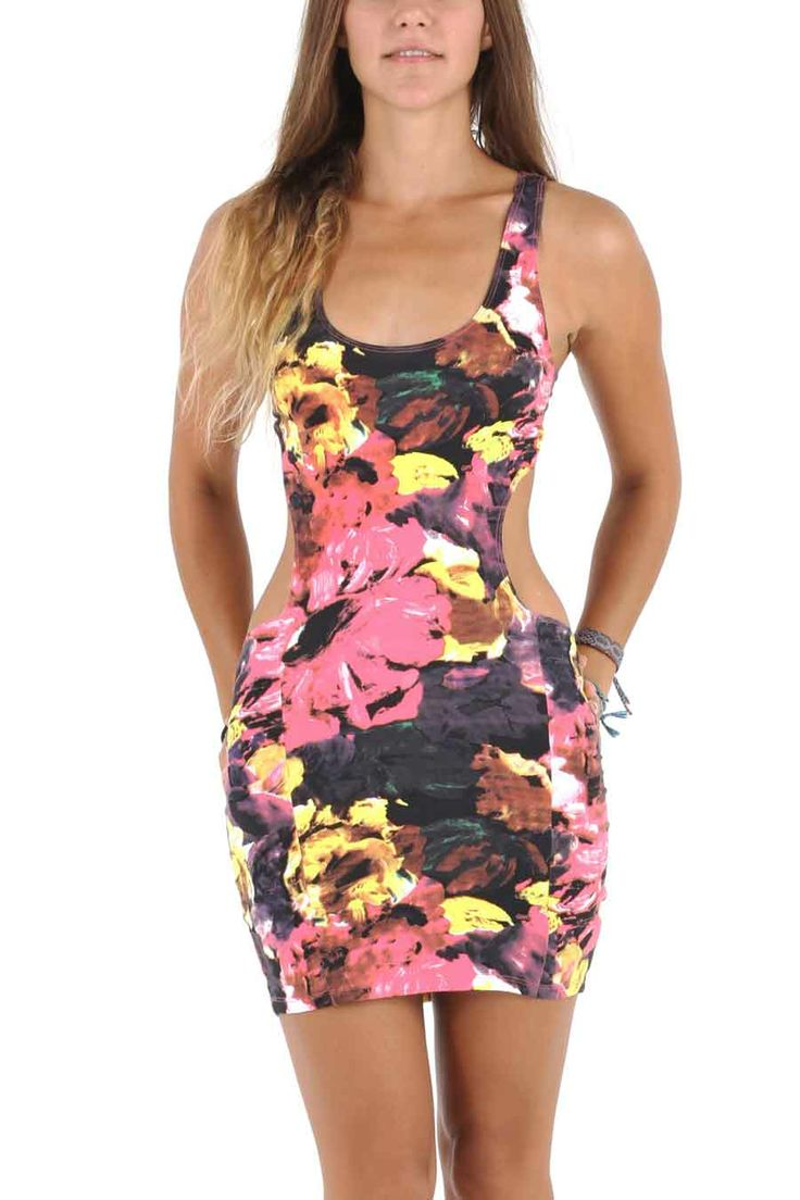 Selena Dress in Floral paint print, 275.000RP