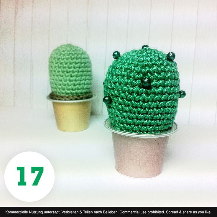 POLARIPOP TUTORIAL Evergreen - crochet cactus in recycled nespresso pot -  Never dries, never dies. Give it as a gift to friends without a green thumb.