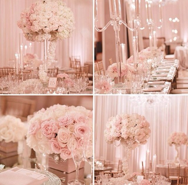 Flowers For A Wedding Reception: White, Platinum And Blush Wedding Ideas On Pinterest