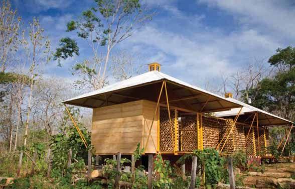 Desain Rumah Bambu Modern Ramah Lingkungan   Bamboo house ...