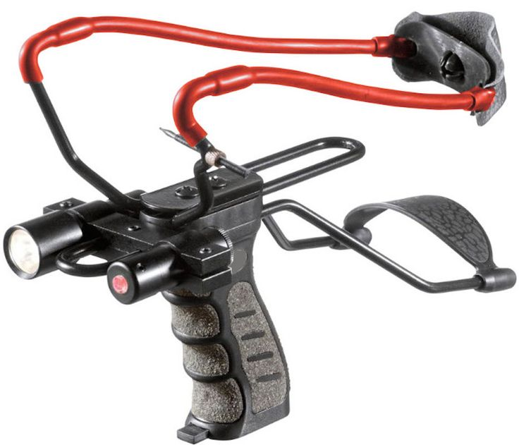 Tactical Slingshot with Laser Sight and Light in Sporting Goods, Outdoor Sports, Air Guns & Slingshots | eBay
