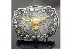 Boucle ceinture gold horn bull