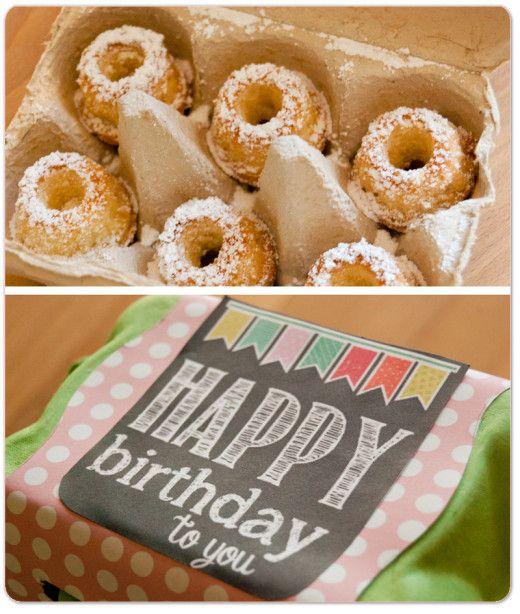 Zum Geburtstag: Marzipan-Gugls im Eierkarton