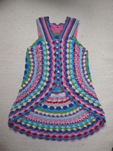 LUL's Flower Power Vest By Lene Unmack Larsen - Free Crochet Pattern - (ravelry):