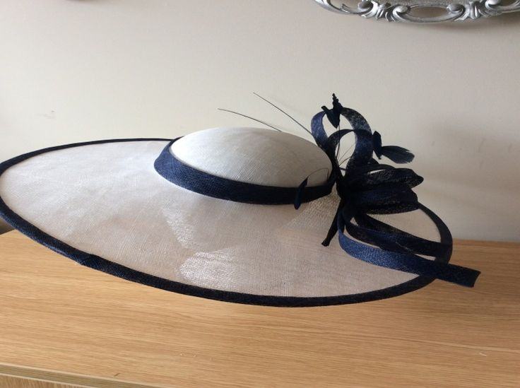 Large brim sinamay hat  BY HELEN TILLEY  #millinery #hats #HatAcademy