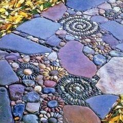 Tile mosaic walkway....