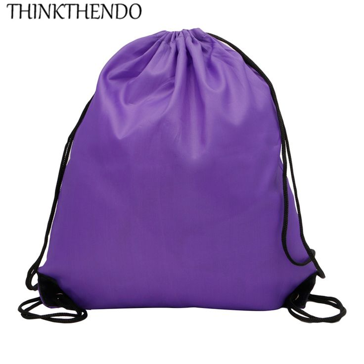1 pz THINKTHENDO Coulisse Cinch Sacco Beach Sport Viaggi Zaino Outdoor Borse Palestra di Sport 8 colori
