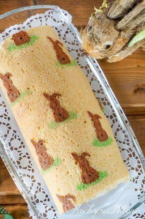 Osterhasen Biskuitrolle gefüllt mit Mandarinen-Quark Rezept