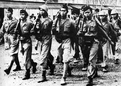 indische soldaten gaan terug vechten