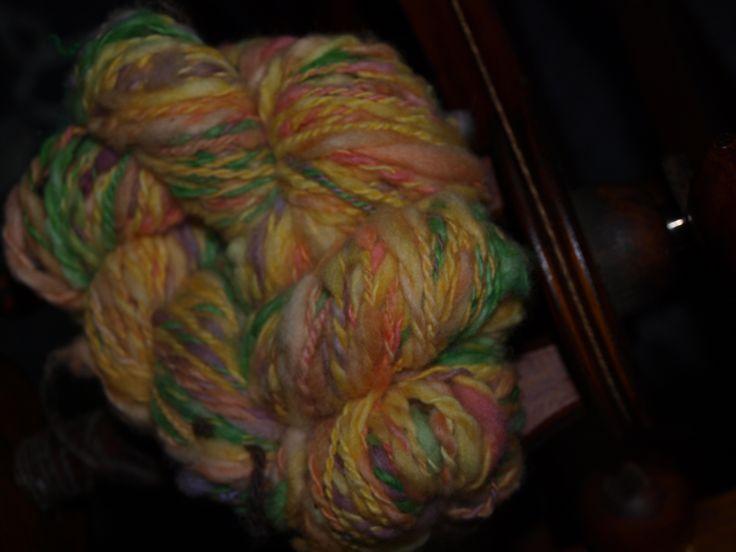 Buttery Popcorn Handspun Wool