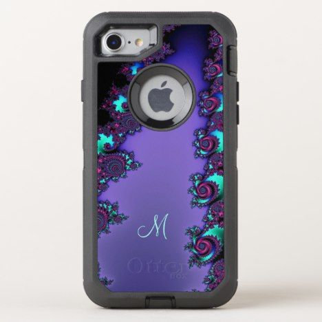 Purple Mandelbrot Fractal Design OtterBox Defender iPhone 8/7 Case