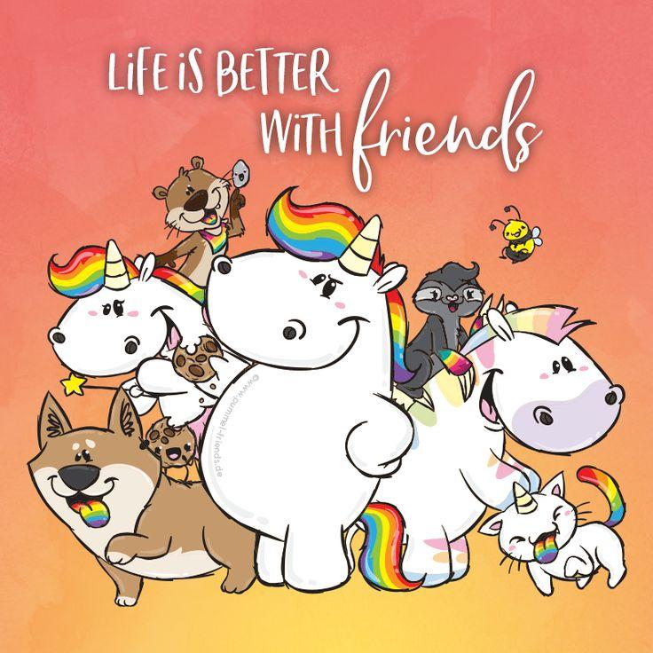 Was würden wir nur ohne unsere Freunde tun?? Hast Du auch so tolle und außergewöhnliche Freunde, wie das Pummeleinhorn sie in der Glitzerwelt gefunden hat?? #pummelandfriends #pummeleinhorn #pummelfee #bisu #kuri #zebrasus #hummel #purricorn #buddy #rocky #cookie #lifeisbetterwithfriends #bestfriends #friends